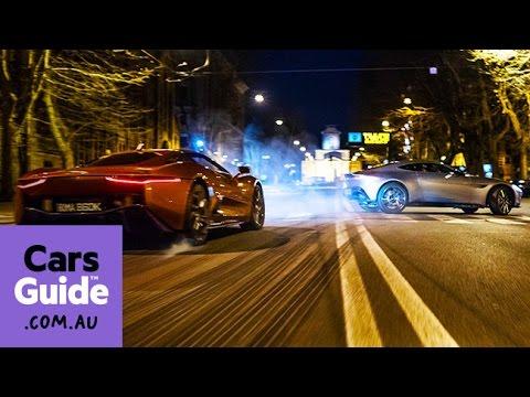 Aston Martin Db10 And Jaguar C X75 James Bond Spectre Car Chase Highlights Youtube