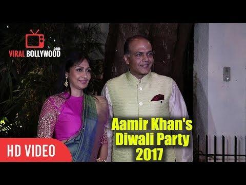 Ashutosh Gowariker with wife Sunita Gowariker At Aamir Khan
