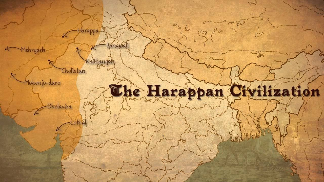 Ancient India Map Harappa.Indus Valley Civilisation Ancient History Cgl Ssc Chsl Clat Ias