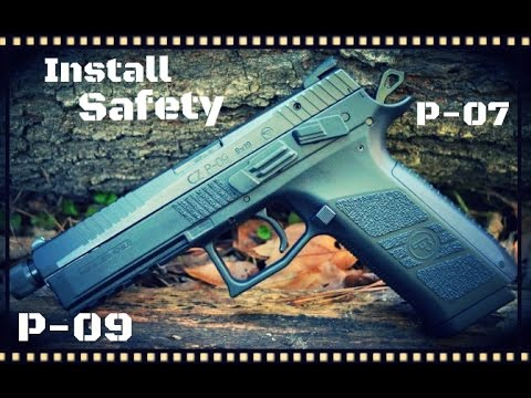 How To Change A CZ P-07 or P-09 Decocker To A Safety (HD)