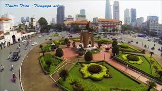 Sài Gòn-Тp.HCM bước sang năm 2016 nhìn từ trên cao (г. Хошимин с высоты птичьего полета) [HD]