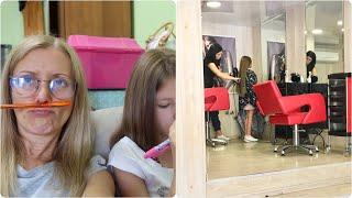 VLOG Как мы делаем уроки летом и Как Кира подстриглась