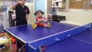 【1歳10ヶ月の卓球】次女(想来)の練習風景の一コマ