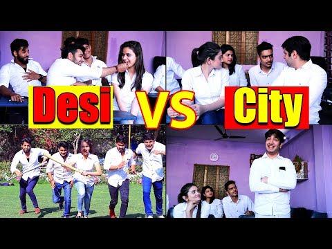 School Life Of Desi VS City || Virat Beniwal Ft. Namra Qadir