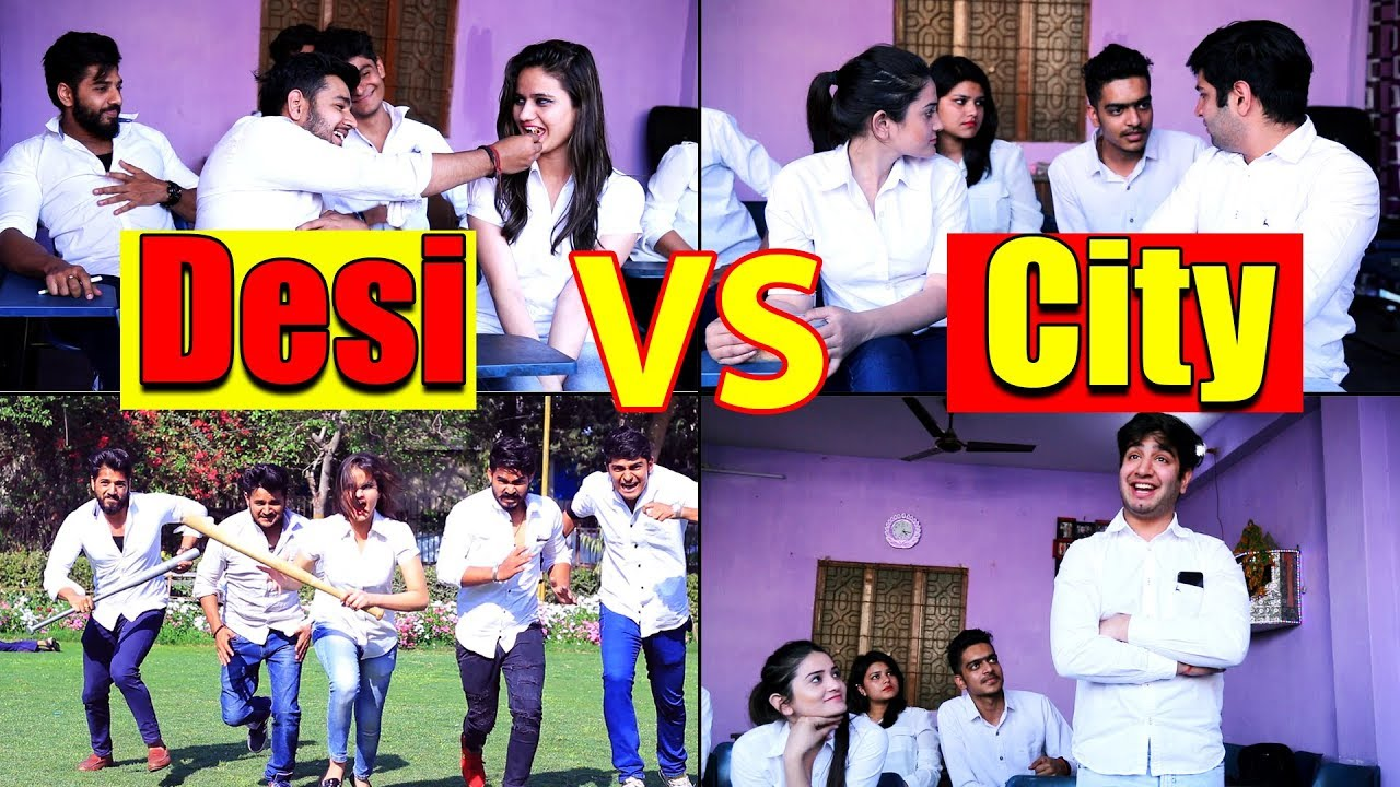 School Life Of Desi VS City || Virat Beniwal || Namra Qadir