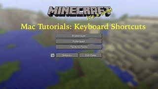 Minecraft Keyboard Shortcuts (Minecraft Mac Tutorials)