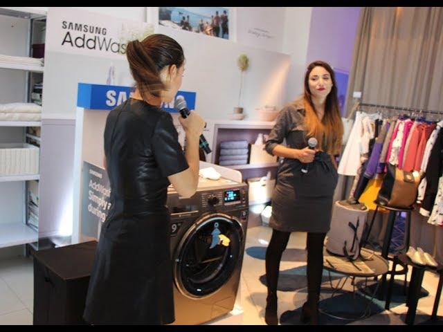 Découverez le nouveau lave-linge Samsung AddWash