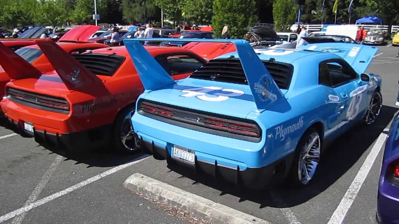 HPP Challenger Superbird Conversions at the 2013 Mopars Unlimited Spring Roundup - YouTube