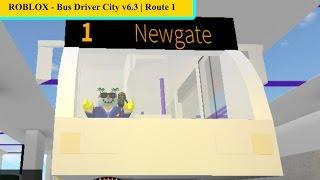 ROBLOX - Ciudad conductora de autobús v6.3 ? Ruta 1