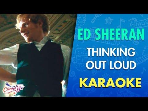 Ed Sheeran - Thinking Out Loud (Karaoke)   CantoYo