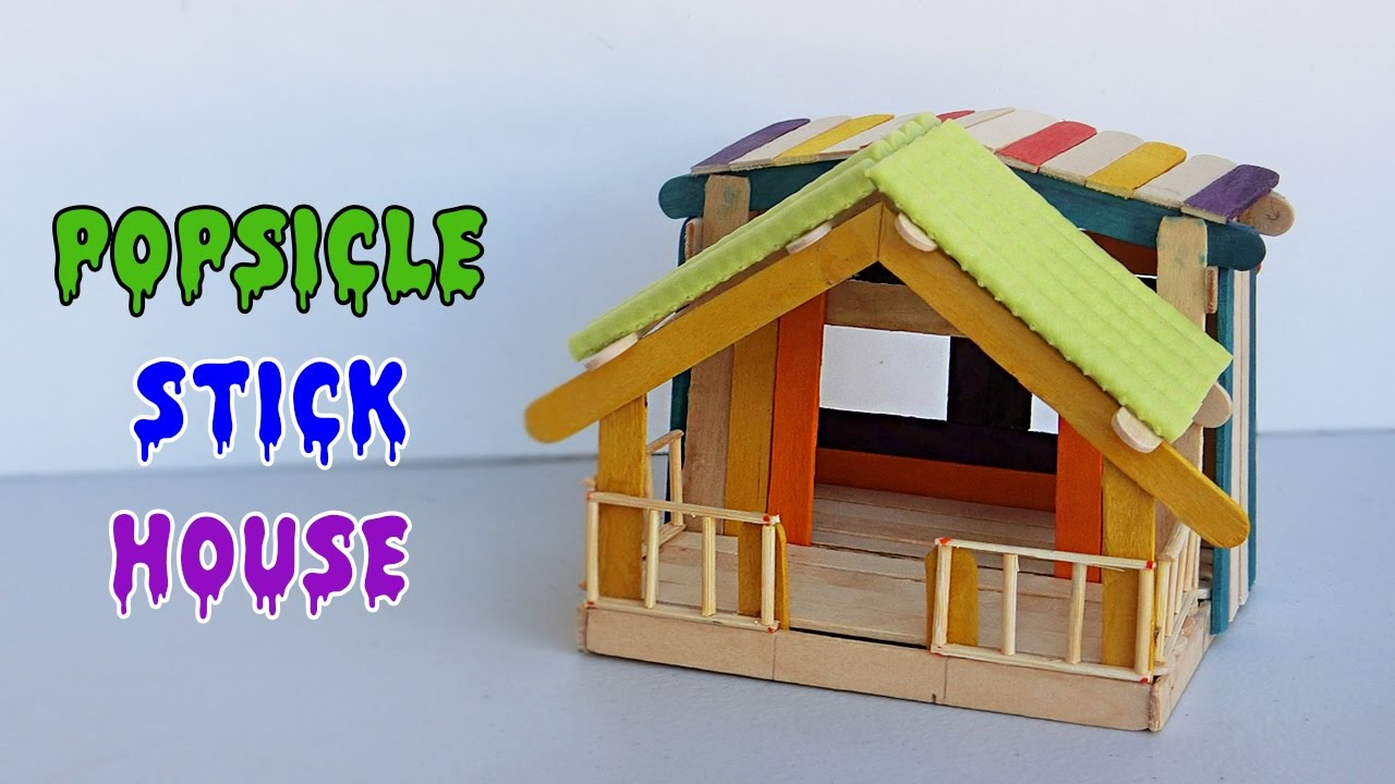 popsicle stick house #10 - crafts ideas for fairy house - youtube