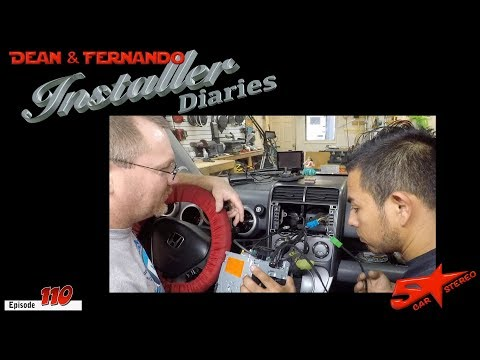 Honda Element In For Some Upgrades, But We Have To Keep The SiriusXM And Factory Sub  Installer Diar