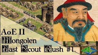 Fast Scout Rush #1 (Mongolen Tutorial)