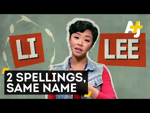 "What's The Difference Between ""Lee"" And ""Li""?"