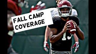 Alabama Football Fall Camp Highlights - Watch Quarterbacks Throw