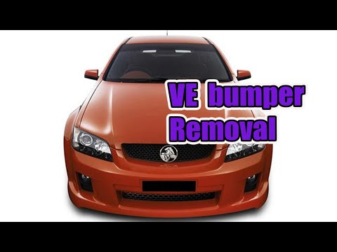 How To Remove Holden Ve Commodore Front Bumper Bar Omega