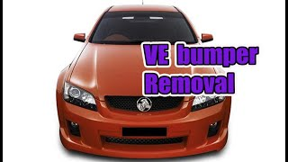 How to remove Holden VE Commodore front bumper bar ( Omega, SS, SV6 etc)