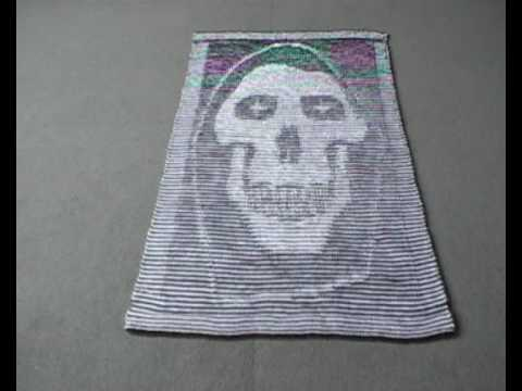 Deaths Head Illusion Knitting - YouTube