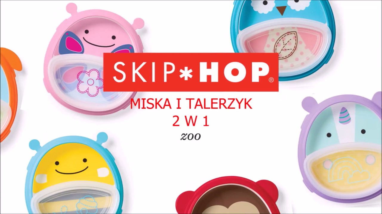 699f3c4834d105 Skip Hop miska i talerzyk 2w1 ZOO Pies