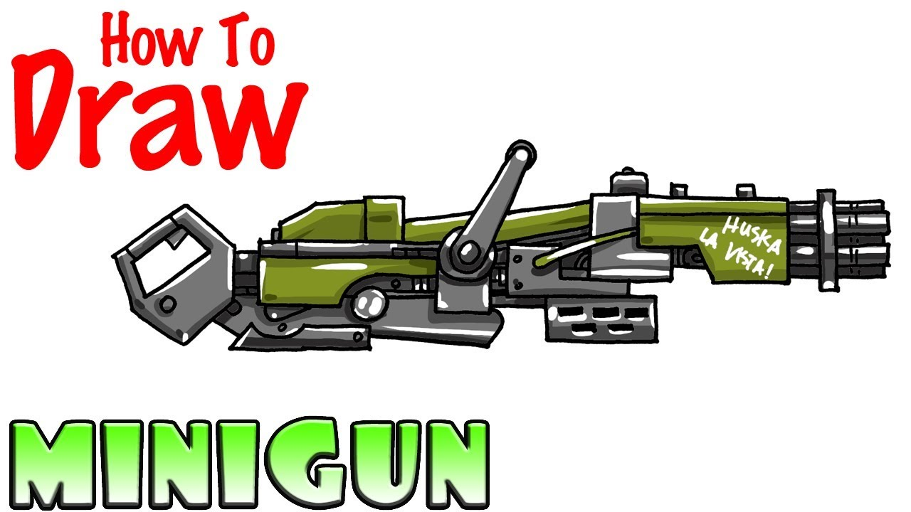 How To Draw The Minigun Fortnite Youtube