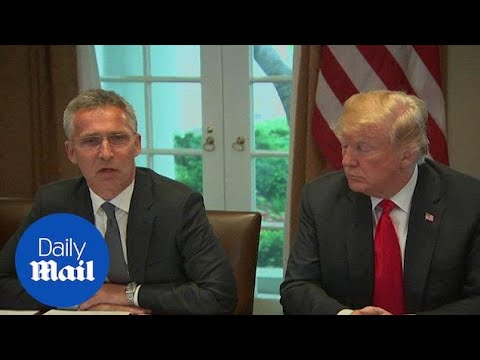 Trump discusses defense spending with NATO's Jens Stoltenberg - Daily Mail