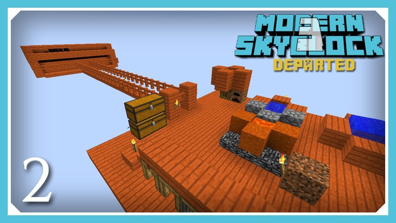 Modern Skyblock 3 Departed | Combustion, Cobble Generator & Mob Farm! | E2  (Modern Skyblock 3 Gated)
