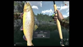 Видео о рыбалке! Игра Fishing Planet.Охота на Трофейную Кумжу! Орегон, озеро Фэлкон(Пробуем ловить рыбу! Охотимся на Трофейную Кумжу! И после первой поимки получаем штраф, то что забыли купить..., 2016-04-16T11:26:54.000Z)