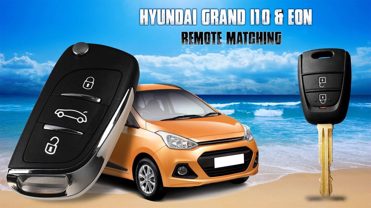 Hyundai Grand I10 Amp Eon Flip Key Remote Matching Using