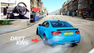 The Forza Horizon 4 Drift King! - Drifting BMW M3 w/Steering Wheel (+ Tune Settings)