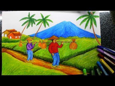 Gambar Pemandangan Petani Di Sawah