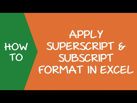 How To Apply Superscript And Subscript Formatting In Excel