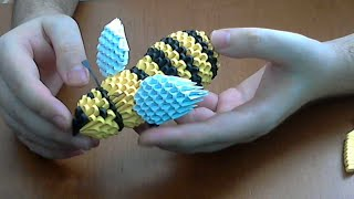 How to make 3D Origami Honey-Bee part1