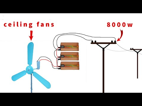 how to turn ceiling fan into a 220v 8000w windmill generator