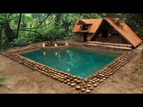Làm nhà biệt thự tuyệt đẹp trong rừng sâu| Sinh tồn trong rừng