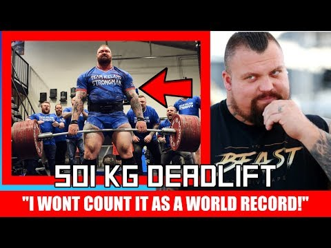 Eddie Hall VS The Mountain's 501kg Deadlift Attempt