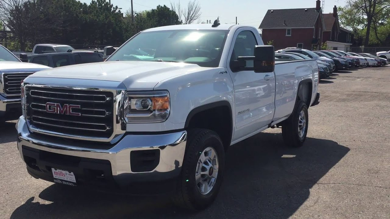 2016 gmc sierra 2500hd sle regular cab 4wd white oshawa on. Black Bedroom Furniture Sets. Home Design Ideas