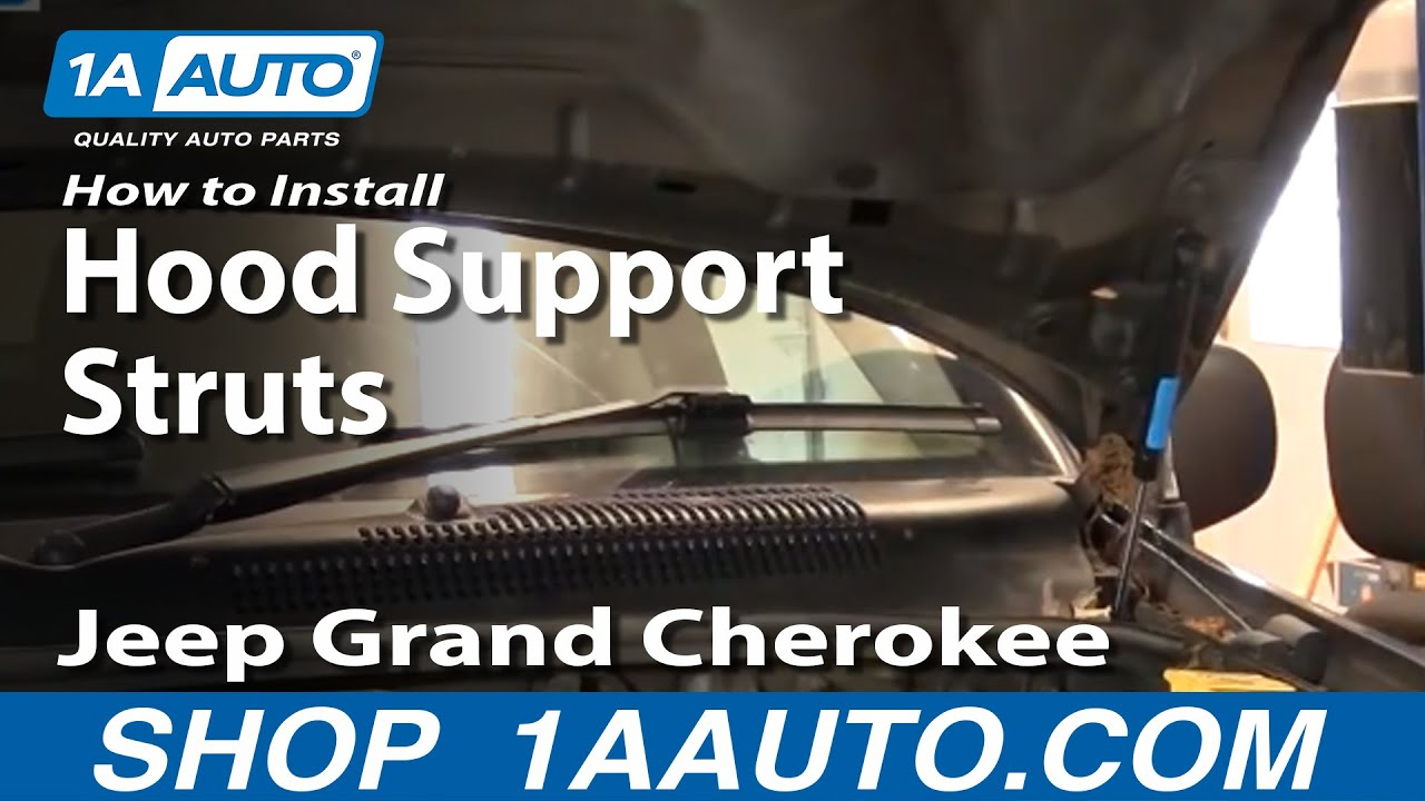 How To Install Repair Replace Sagging Falling Engine Hood Jeep Grand Cherokee 99 04 1aauto Com