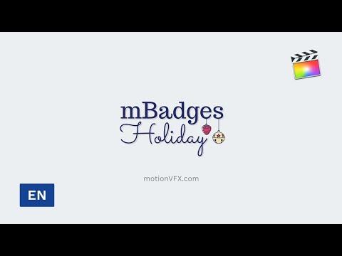 mBadges Holiday Final Cut Pro X Tutorial - FCPX Plugin - MotionVFX thumbnail