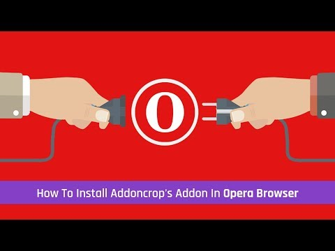 How To Install Addoncrop's Addon In Opera Browser