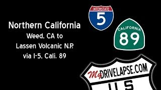 Drive to Lassen Volcanic National Park, California Dashcam Drivelapse