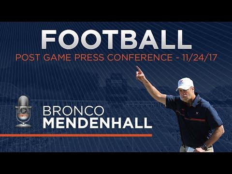 FOOTBALL - Bronco Mendenhall Post VT Press Conference