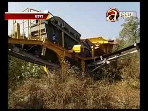 Heavy machineries and tools used for road construction stranded at Hulaki highway - Bara