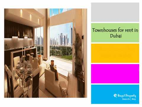 Townhouses for rent in Dubai