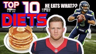 Top 10 NFL Player Diets (Past and Present)(During/After Their Careers)!!