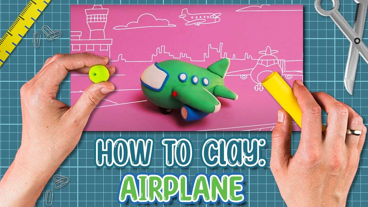 How to make a plane from plasticine