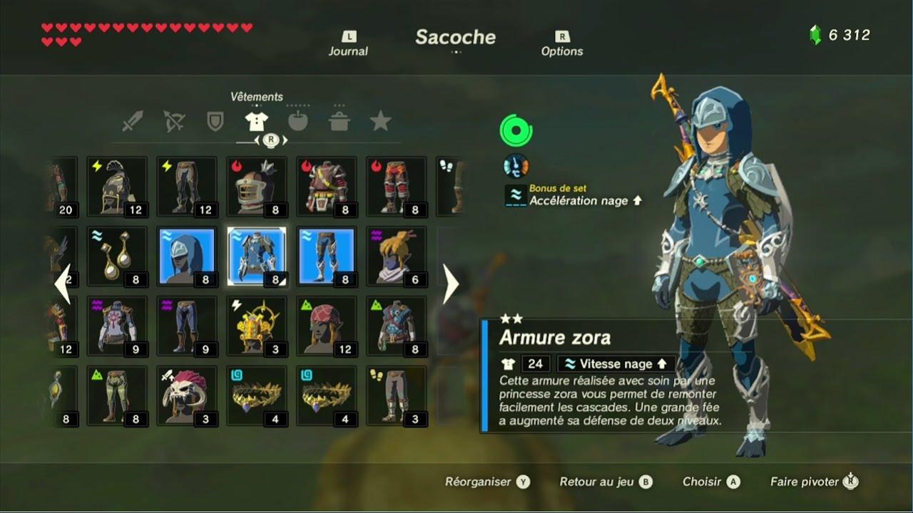 The Legend of Zelda: BotW - Guide de la tenue Zora - YouTube