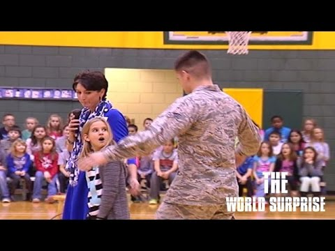 Soldier Comes Home, Surprises Little Sister