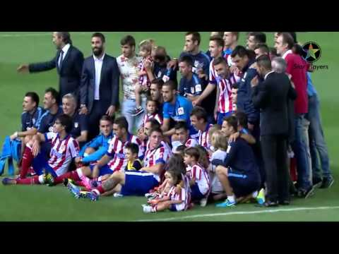 Atletico Madrid Winner Celebrating Super Spanish Cup Trophy 2014 HD