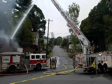 Large Fire Breaks Out At Waterbury Mattress
