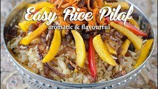 Easy Rice Pilaf (bariis Maraq Fudud) أرز بيلاف سهل